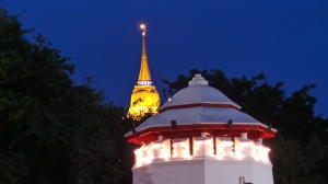 Golden Mount At Night