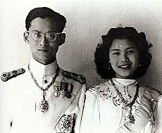 King Bhumibol and Queen Sirikit an their Wedding Day