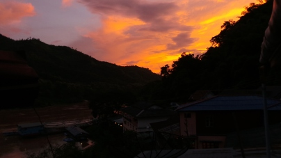 Sunset Looking South On The Mekong