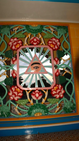 The Omnipresent Divine Eye - Cao Dai Temple