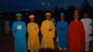 Cao Dai Elders in Ceremonial Robes