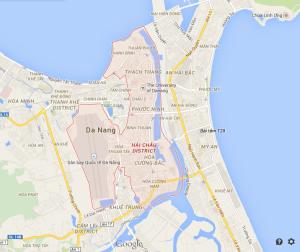 Map of Da Nang, Vietnam