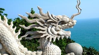 Dragon Guarding the Staircase - Linh Ung Pagoda - Da Nang, Vietnam