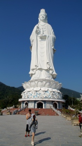 For Reference:  People Standing in front of Lady Buddha - Da Nang, Vietnam
