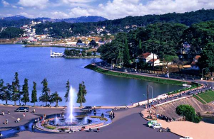 Xuan Huong Lake and Da Lat, Vietnam